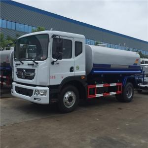 Quality Stainless Steel 190HP Water Tanker Truck , 90km/H Dongfeng Water Truck for sale