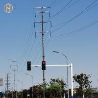 Quality 6M - 7.5M Traffic Light Pole Installing Camera , Yellow Green Red Light Pole for sale