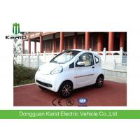 China 4 Wheels Drive White Body Mini Electric City Car With 2 Seats Good Climbing Ability on sale