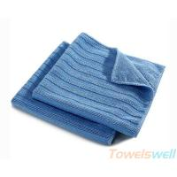 Quality Wide Vertical Stripes Microfiber Cloth Streak Free, Durable, Scratch-Free, Super Absorbent for sale