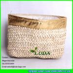 Quality LUDA new design elegant women corn hust straw clutch bag fashion handbag for sale