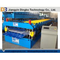 Quality Hydraulic Uncoiler Machine Roof Panel Roll Forming Machine with PLC Vector Inverter Control System for sale