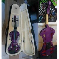 Quality Professional Purple Solid Basswood Electric Violins , Size 4/4 3/4 1/2 1/4 1/8 for sale