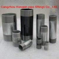 China Short threads pipe nipples, barrel nipples on sale