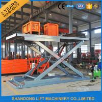 China Electric Hydraulic Guide Rail Warehouse Elevator Lift Platform 5000kg Loading Capacity on sale