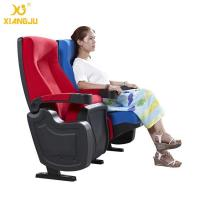 Quality Geniune Leather High Density Molded Foam Movie Theater Seats With Cup Holder for sale