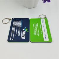 China Personalized Company Advertisement Gift Tags Labels For Soft PVC Keychain on sale