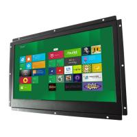 Full HD Open Frame LCD Monitor RS232 Remote Control With Viewing Angles