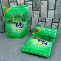 Quality Food Grade Zipper Plastic Bags With Clear Window For Tea Packaging for sale