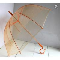 Quality Orange Transparent Bubble Umbrella / Foldable Umbrella Fibreglass Frame / Ribs for sale