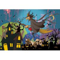 Quality Custom 30*40cm Happy Halloween Poster Lenticular Flip With 0.6mm PET For Party Decoration for sale