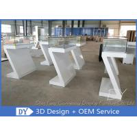 Quality Custom Fashion Modern Retail Glass  Jewelry Display Cases With Light for sale