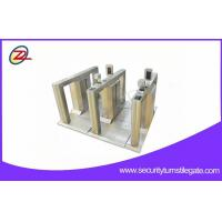 China Luxurious Exhibition Flap Barrier Gate Pedestrian Security Stainless Steel Turnstiles on sale