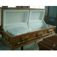 Quality Lacquered Paulownia Wooden Coffin Funeral Coffin Customization for sale