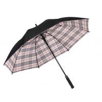 Quality Flip Proof Golf Foldable Sun Umbrella Double Layer Canopy Inside Plaid Color for sale