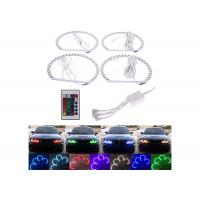Quality Dual Color Vehicle LED Angel Eye Rings Super Bright Enegry Saving 70mm 110mm for sale