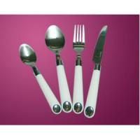 Stainless Steel Flatware With Plastic Handle For Sale