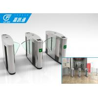 Buy Intelligent Entrance flap Barrier Gate , Indoor Stainless Steel Half Height Turnstile at wholesale prices