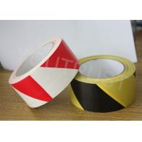 Quality Industrial PVC Marking Tape Yellow Black Self Adhesive Warning Tape for sale