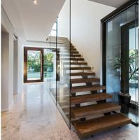 Quality Indoor prefabricated stairs wooden floating stairs for sale