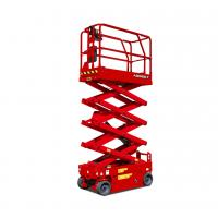 China 25ft Height Lift Safety Single Man Electric Scissor Lift , Motorized Scissor Lift on sale