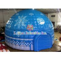 Quality Colorful Inflatable Dome Tent / 9m 0.55MM PVC Inflatable Air Tent for sale