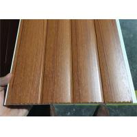 Quality Vinyl Wood Wall Paneling Sheets , Pvc Bathroom Ceiling Cladding Groove Design for sale