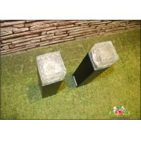 Quality Iron Ice Bollard Square Solar Outside Lights / Solar Powered Decking Lights for sale
