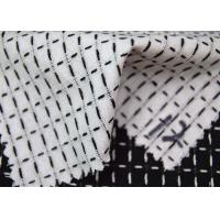 Quality Grid Style Jacquard Material Pure Cotton Classical Black And White Color for sale