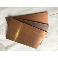 Quality Rustproof Copper Facade Panels 3mm Thickness, Outside Wall Cladding Panels for sale