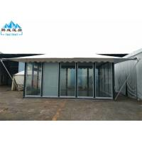 Quality 5x6M White PVC Roof Hotel Marquee Party Tent With Glass Wall And Door for sale
