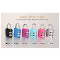 Buy Colorful Resettable Combination Padlock 3 Digit Password Suicase Padlock at wholesale prices