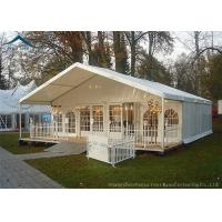 China Beautiful Lining Decorations Glass Wall Tents With Aluminum Structure on sale