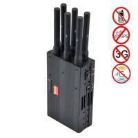 Quality 6 Antenna High Power Portable Cell Phone Signal Jammer Blocking GSM 3G 4G LTE WIMAX GPS for sale