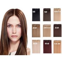 Quality Bright Blonde Synthetic Human Hair Extensions No Chemical Processed Virgin Hair for sale