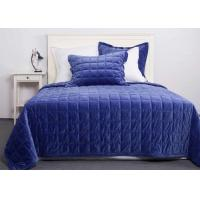 Quality Solid Velvet Quilted Coverlet And Shams 3 Pcs Twin / Queen / King Size for sale
