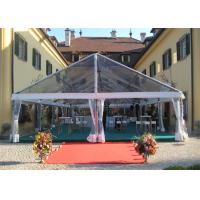 Quality Transparent Sidewall Romantic Large Wedding Tents Aluminum Alloy Structure Marquee for sale