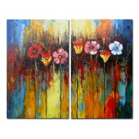 Quality tree flower painting hotel interior wall picture for sale