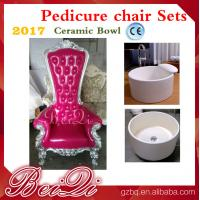 Buy cheap 2017 hot sale king throne pedicure chair round pedicure bowl price, Pink spa from wholesalers