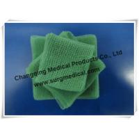 Quality EU Standard Pre - cut Green Surgical Absorbent Cotton Gauze Pads Swab for sale