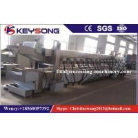 Quality Fully Automatic Food Processing Machinery , Meat Chicken Belt Nuts Continuous Fryer Machine for sale