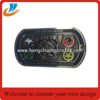 China Dog tag medal coins/soft enamel process metal challenge coin high quality custom on sale