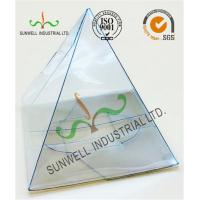 Quality Handmade Custom Gift / Craft Clear Packaging Boxes Triangle Glossy Lamination for sale