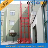 China Guide Rail Chain Hydraulic Elevator Lift , Home Cargo Double Cylinder Hydraulic Lift on sale