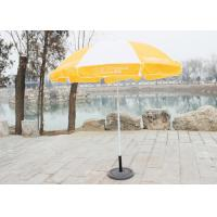 Quality Stable Big Beach Umbrella , Branded Promotional Umbrellas With 210D Oxford Fabric for sale