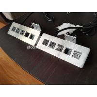 Buy cheap 3 Outlets Desk Mounted Power Sockets With 2 USB Ports , Desktop Power And Data from wholesalers