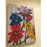 Quality flower cosmetic wall art painting wall decor for sale
