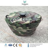 Portable foldable camping water storage drum for outdoor  emergency water storage tank