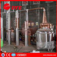 Quality Yellow Copper Wine Making Machine CE Commercial Distilling Equipment for sale