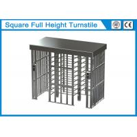 Quality Square Full Height Security Turnstile Gate 1.5mm Thickness With Two Card Reader Window for sale